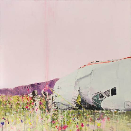 """Untitled V"" · acrylic on canvas · 140x140cm · 2013"